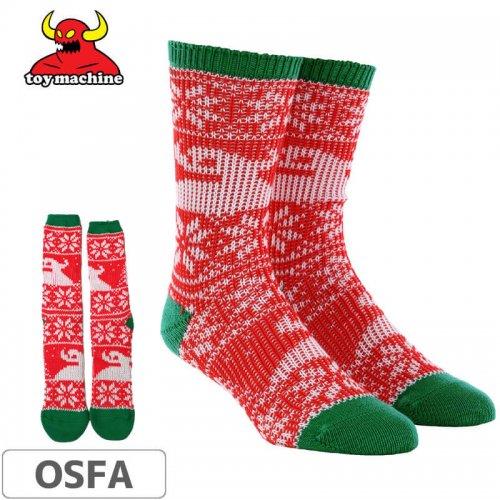 【TOY MACHINE トイマシーン ソックス】Ugly Sweater Sock【ニット】NO48
