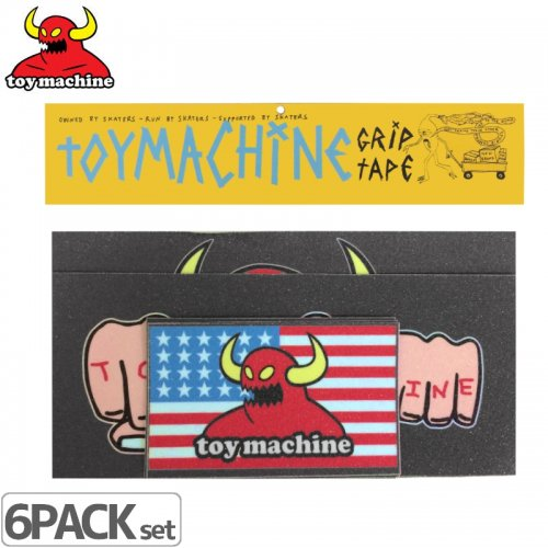 【TOY MACHINE トイマシーン デッキテープ】GRIP STICKER PACK #1【6枚入り】NO2