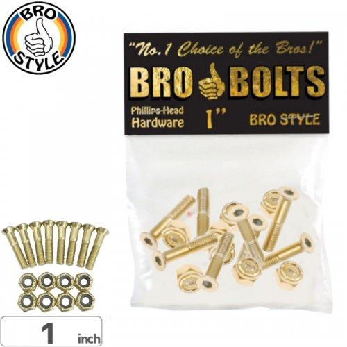 【BRO STYLE ブロスタイル ハードウェア】PHILLIPS 1 GOLD HARDWARE【1インチ】【プラス】NO1
