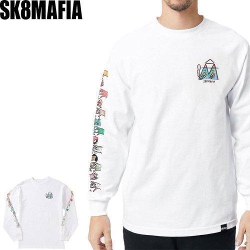 【スケートマフィア SK8MAFIA スケボー ロングTシャツ】LUCAS BEAUFORT x SK8MAFIA L/S TEE【ホワイト】NO3