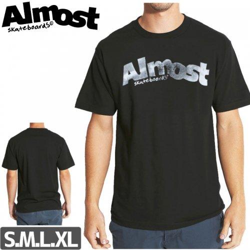 【ALMOST オルモスト スケートボード Tシャツ】SUPERWORN PRICE POINT TEE【ブラック】NO40