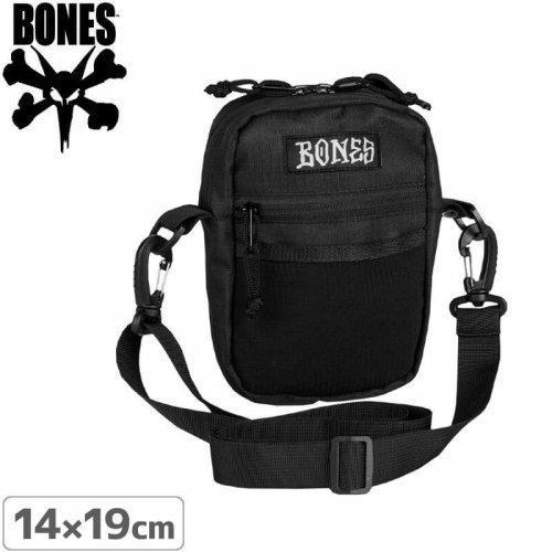 【ボーンズ スケボー バッグ】BONES WHEELS Shoulder Bag Black 6