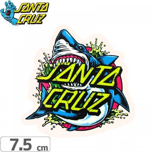 【サンタクルーズ SANTACRUZ スケボー ステッカー】SHARK DOT STICKER【7.5cmx7cm】NO92