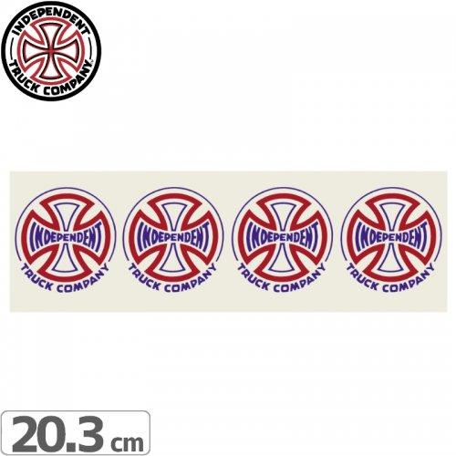 【インディペンデント INDEPENDENT スケボー ステッカー】TWO TONE CLEAR MYLAR STICKER【6.3cmx20.3cm】NO103