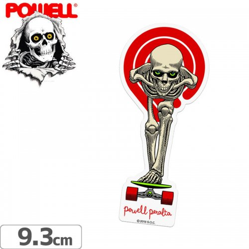 【パウエル POWELL スケボー ステッカー】TUCKING SKELETON STICKER【9.3cm x 4.3cm】NO41