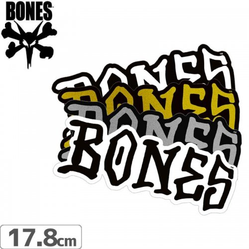 【ボーンズ BONES スケボー ステッカー】BONES WHEELS STICKER【17.8cm x 6.5cm】NO50