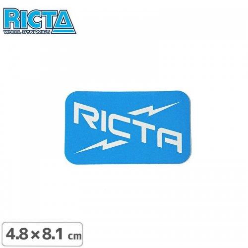【リクタ RICTA スケボー ステッカー】LOGO STICKER【8.1cm x 4.8cm】NO5