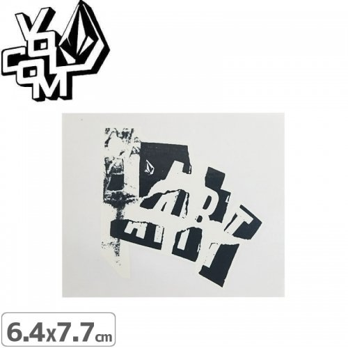【ボルコム VOLCOM ステッカー】STICKER【6.4cm x 7.7cm】NO352