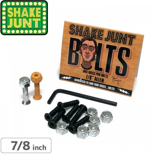 【シェイクジャント SHAKE JUNT ハードウェア】JAKE HAYES PRO BOLTS【7/8インチ】【六角】NO15