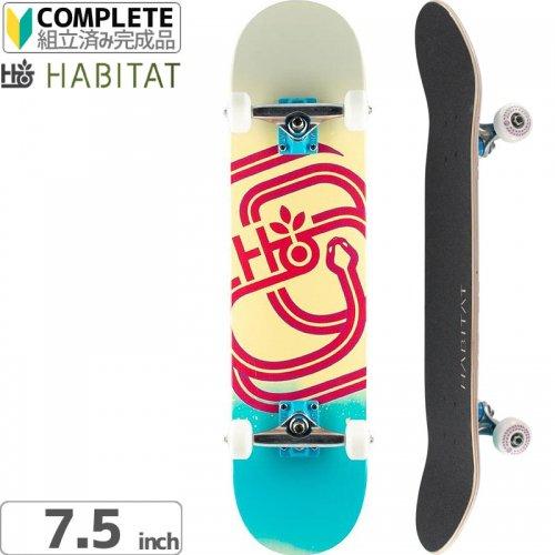 ハビタット HABITAT スケートボード コンプリート】SERPENT OVERSPRAY COMPLETE[7.5インチ]NO15