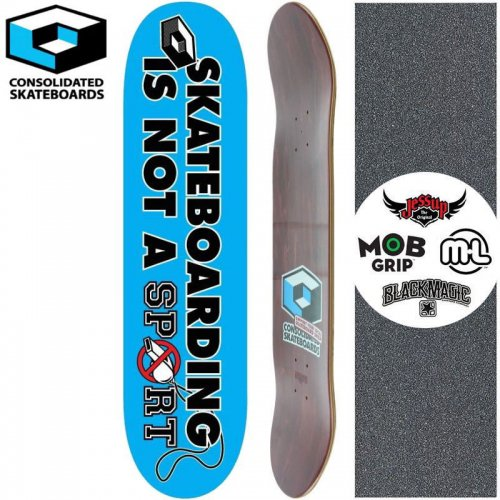 【CONSOLIDATED コンソリデーテッド スケートボード デッキ】SKATEBOARDING IS NOT A SPORTS DECK[8.1インチ]NO23