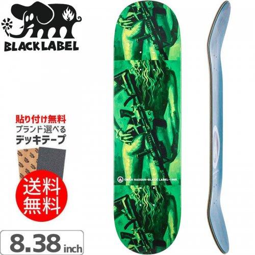 【ブラックレーベル BLACK LABEL デッキ】OMAR HASSAN BULETPROOF DECK[8.38インチ]NO78