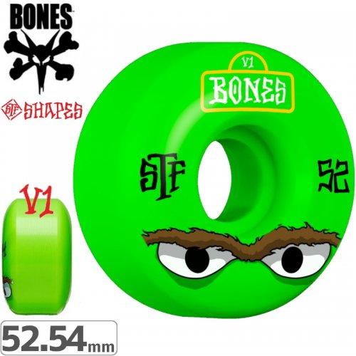 【ボーンズ BONES スケボーウィール】MEAN GREEN STF V1 WHEELS【103A】【52mm】【54mm】NO174