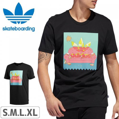 【アディダス Tシャツ ADIDAS SKATEBOARDING 】BEAVIS AND BUTTHEAD TEE【ブラック】NO47