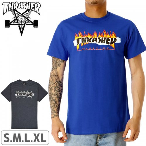 【スラッシャー Tシャツ THRASHER スケボー】(USAモデル)RIPPED T-SHIRT NO112