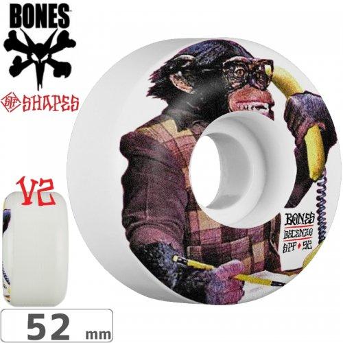 【ボーンズ BONES スケボーウィール】DECENZO MONKEY BIZZ STF V2 WHEELS【103A】【52mm】NO180