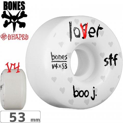 【ボーンズ BONES スケボーウィール】BOO JOHNSON LOVER STF V4 WHEELS【103A】【53mm】NO181