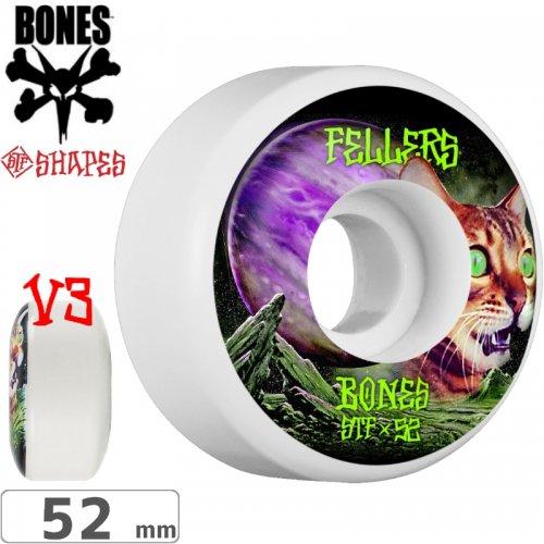 【ボーンズ BONES スケボーウィール】FELLERS GALAXY CAT STF V3 WHEELS【103A】【52mm】NO184