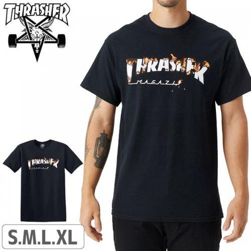 【スラッシャー Tシャツ THRASHER スケボー】USAモデル INTRO BURNER S/S TEE NO113