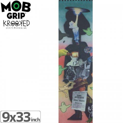 【モブグリップ MOB GRIP デッキテープ】KROOKED COLLAGE GRIPTAPE【9 x 33】NO10
