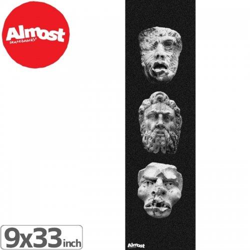 【オルモスト ALMOST スケボー デッキテープ】STATUE HEADS GRIPTAPE【9 x 33】NO13
