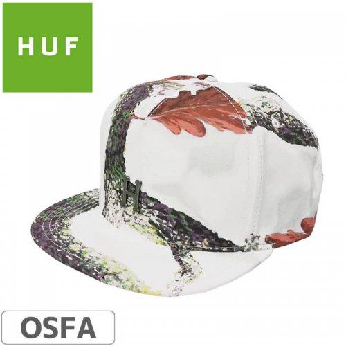 【HUF ハフ スケボー CAP キャップ】METAL H STRAPBACK HAT【ホワイト】NO77
