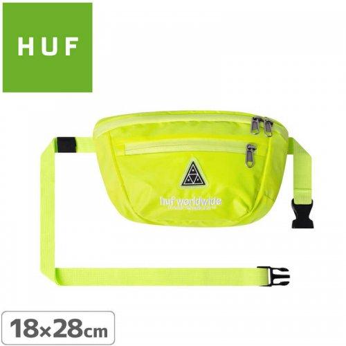エアーフレッシュナープレゼント中【HUF ハフ スケボー バッグ】HI-VIS SIDE BAG【ネオンイエロー】NO4