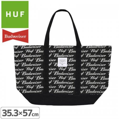 【HUF ハフ スケボー バッグ】BUDWEISER TOTE BAG【ブラック】NO6