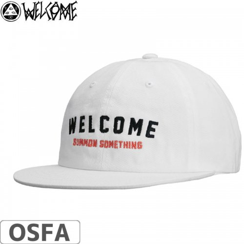 【WELCOME ウェルカム スケートボード キャップ】ACADEMIC 2.0 UNSTRUCTURED SNAPBACK【ホワイト】NO1