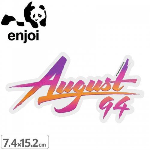 【ENJOI エンジョイ ステッカー】AUGUST 94 STICKER【7.4cm x 15.2cm】NO77