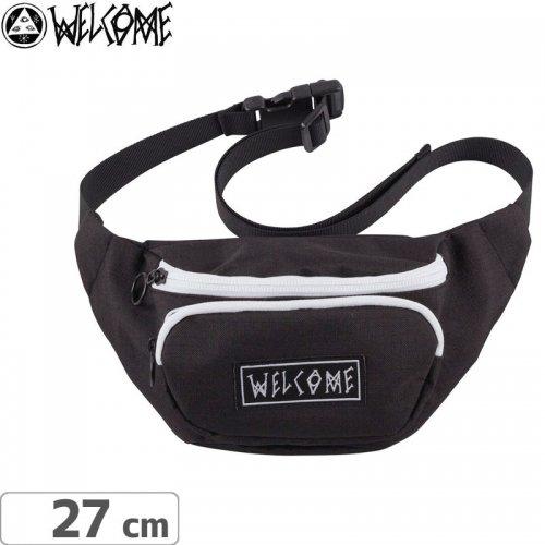 【WELCOME ウェルカム スケートボード ウェストポーチ】SCRAWL WAIST BAG【ブラック】NO1