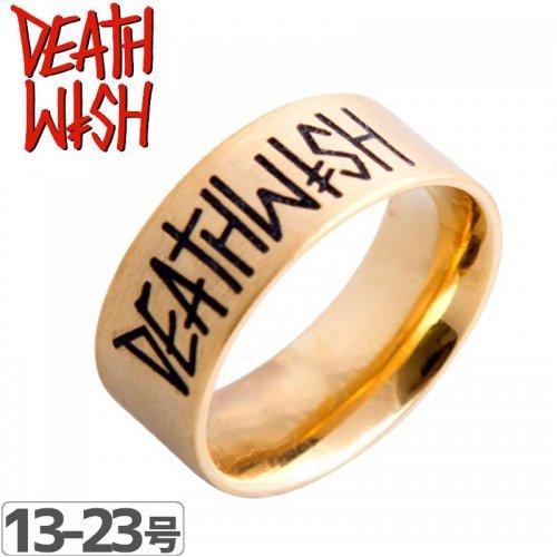 【デスウィッシュ DEATHWISH スケボー リング 指輪】DEATHSPRAY GOLD RING【ゴールド】NO2