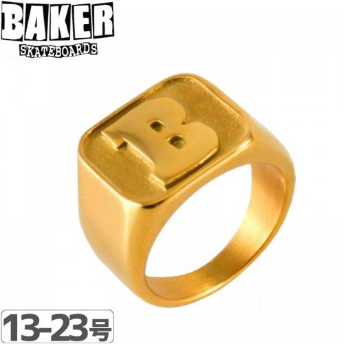【BAKER ベーカー スケボー 指輪】CAPITAL B RING 【ゴールド】NO3