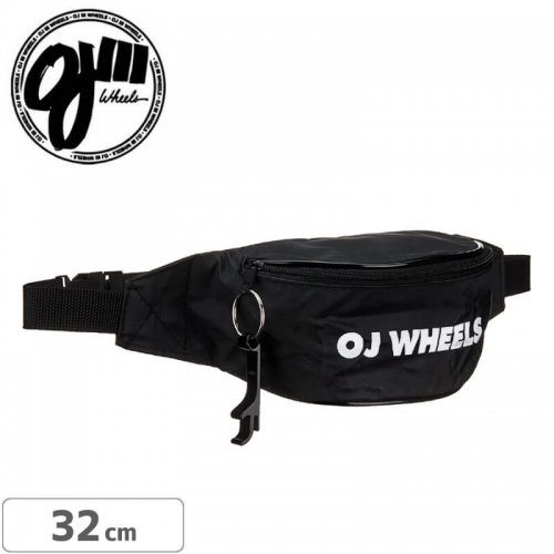 【OJ Wheels スケボー バッグ】Bar Logo Fanny Pack【ブラック】NO1