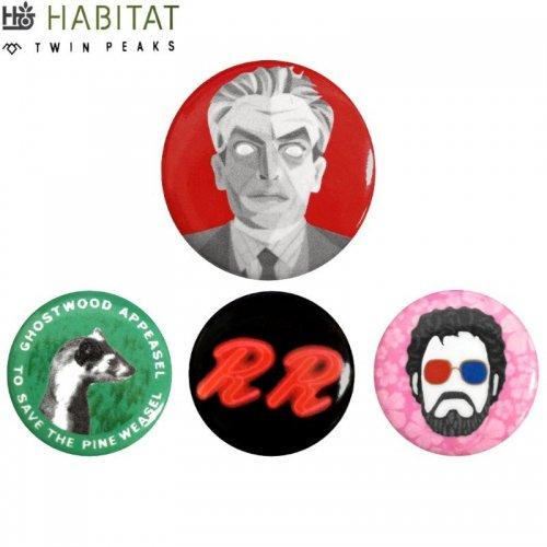 【HABITAT ハビタット スケボー バッチ】TWIN PEAKS SINGLE PINS【4カラー】NO1
