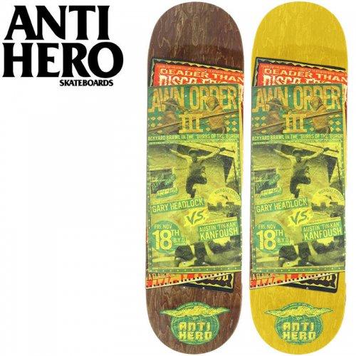 【ANTI HERO アンタイヒーロー デッキ】KANFOUSHFRIDAY DECK[8.28インチ]NO121