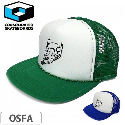 【コンソリデーテッド CONSOLIDATED スケボー キャップ】OUTLINE DAREDEVIL MESH CAP NO9