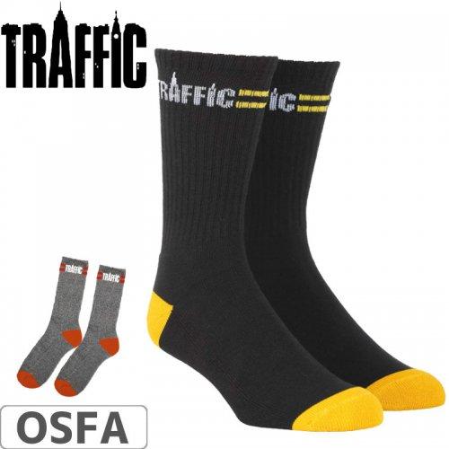 【スケボー ソックス トラフィック】Traffic Merge Sock【ブラック】NO1