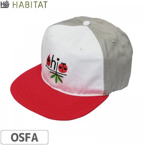 【スケボー キャップ HABITAT ハビタット】HARPER OHIO CAP【グレー×レッド】NO20