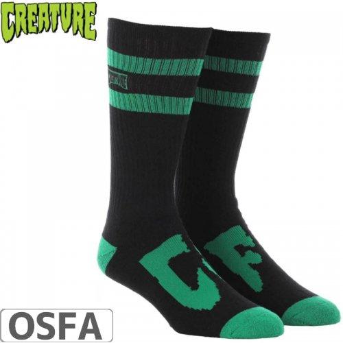 【スケボー ソックス CREATURE クリーチャー】CSFU CREW SOCKS【グリーン】NO16