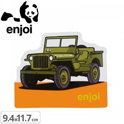 【ENJOI エンジョイ ステッカー】PANDA PATROL【9.4cm x 11.7cm】NO79