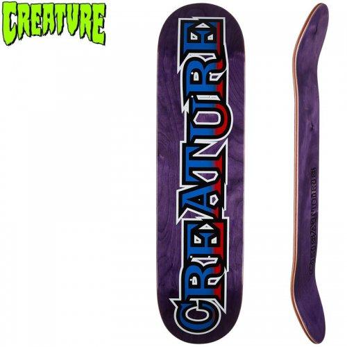 【クリーチャー CREATURE スケートボード デッキ】LONG LOGO SM HARD ROCK MAPLE[8.0インチ]NO154