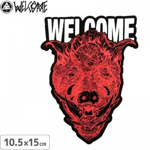 【スケボー ステッカー ウェルカム】WELCOME HOG WILD STICKER【10.5cm×15cm】NO3