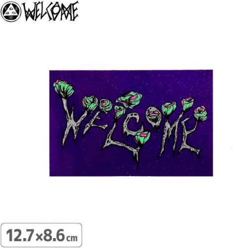【スケボー ステッカー ウェルカム】WELCOME ZOMBIE FLOWERS STICKER【12.7cm×8.6cm】NO5