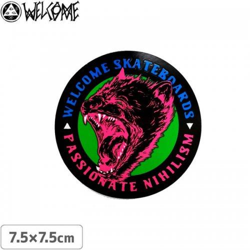 【スケボー ステッカー ウェルカム】WELCOME PASSIONATE STICKER【7.5cm×7.5cm】NO8