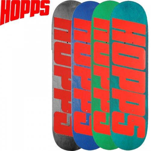 【HOPPS ホップス スケボー デッキ】BIG HOPPS RED DECK[8.25インチ]NO10