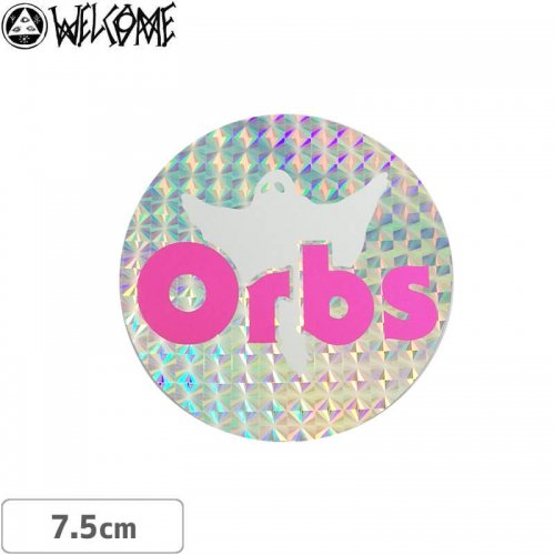【スケボー ステッカー ウェルカム】WELCOME Orbs HOLOGRAM STICKER【7.5cm×7.5cm】NO10