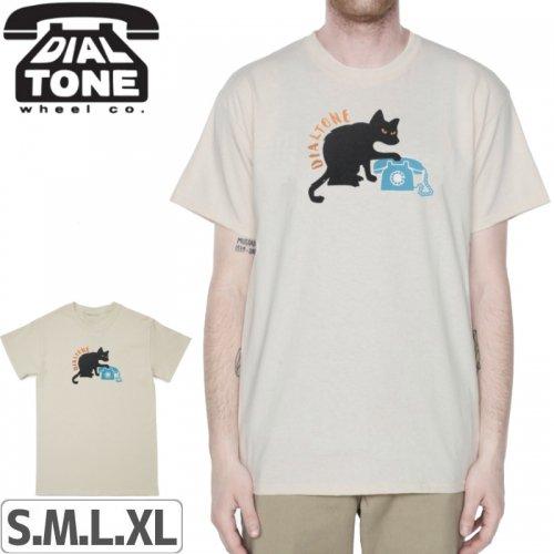【ダイアルトーン DIAL TONE WHEELS スケボー Tシャツ】CAT CALL TEE【クリーム】NO6
