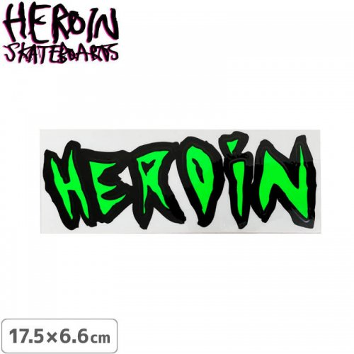 【ヘロイン スケボー ステッカー】HEROIN NEON COLOR LOGO STICKER【17.5cm×6.6cm】NO27