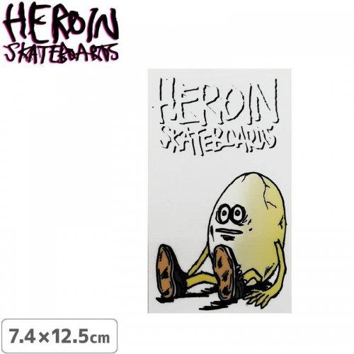 【ヘロイン スケボー ステッカー】HEROIN EGG MAN STICKER【7.4cm×12.5cm】NO34